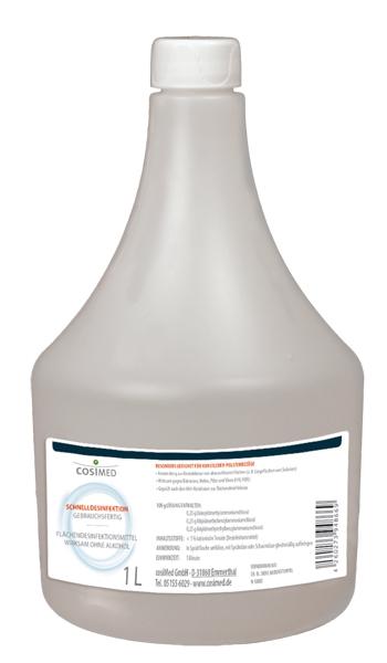 CosiMed Schnelldesinfektion Gebrauchsfertig 1 Liter ohne Sprüher