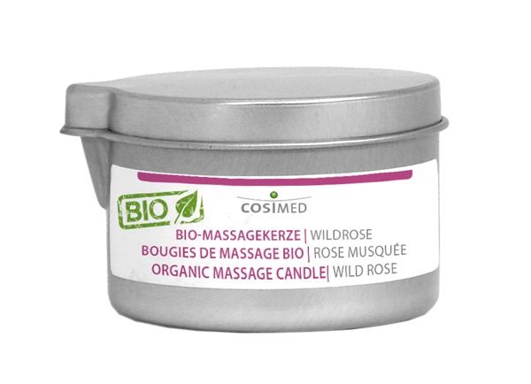 Bio Massegekerze Wildrose