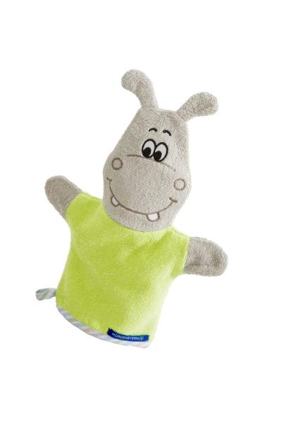 """Hippo"" Waschhandschuh Figur"