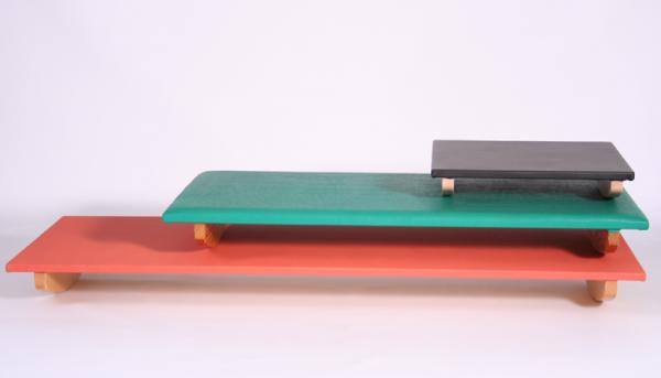 Schaukelbrett Mittel 120 x 80 x 13 cm Kufen parallel