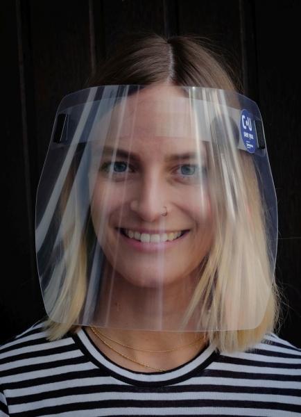 PET Face Shield mit Gummiband