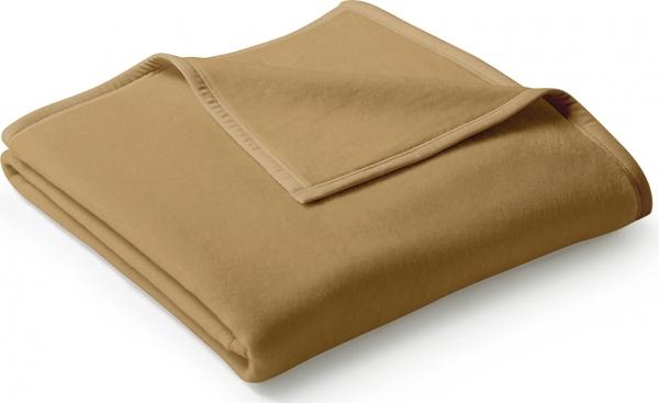 Decke Orion cotton uni kamel