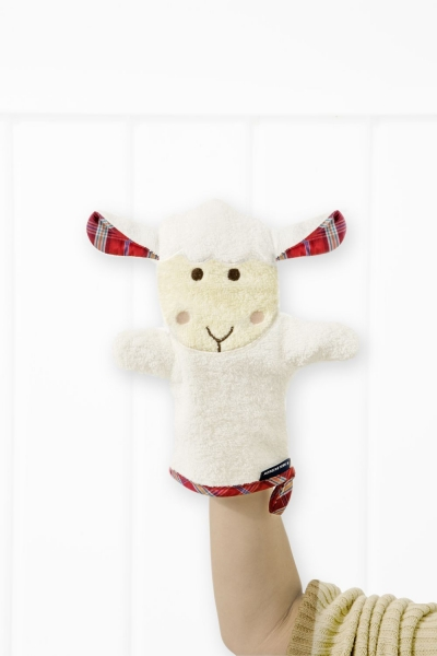 """Sleepy Sheepy Farm"" Figur Waschhandschuh"