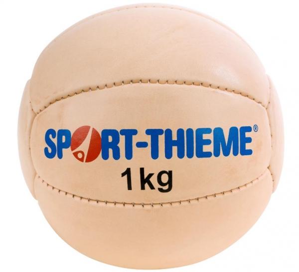 Medizinball aus Rindleder 1 kg