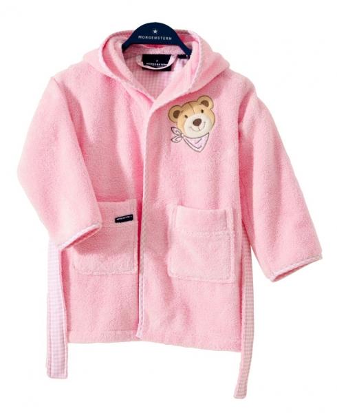 """""""Bär"""" Kinderbademantel, rosa"""