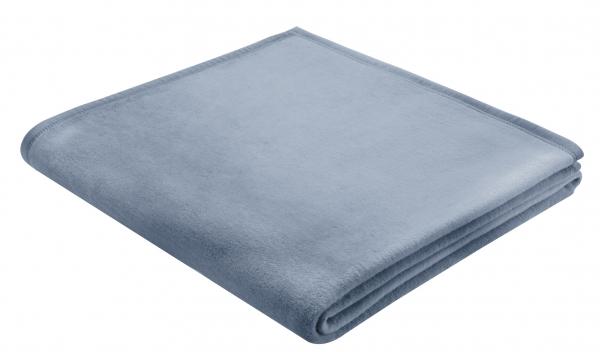 Decke 100% Baumwolle hellblau
