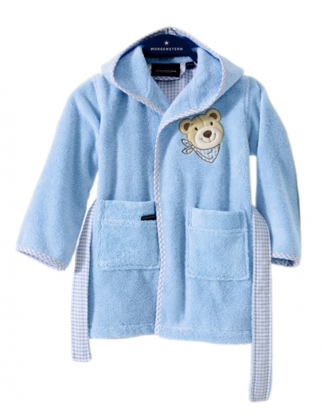 """""""Bär"""" Kinderbademantel, blau"""