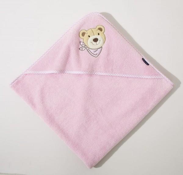 """""""Bär"""" Kapuzenlaken rosa"""